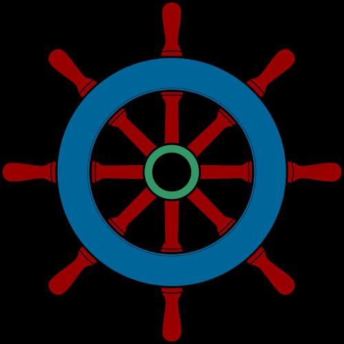 Pirate Ship Steering Wheel Clip Art N2 free image.