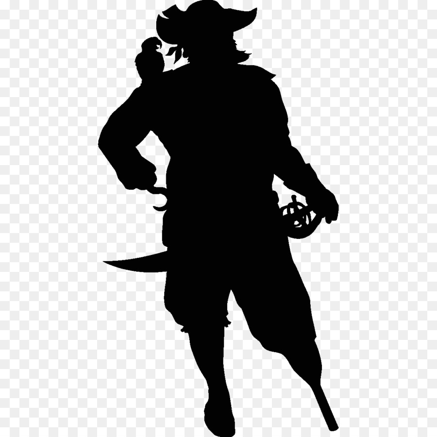 Captain Hook Silhouette png download.