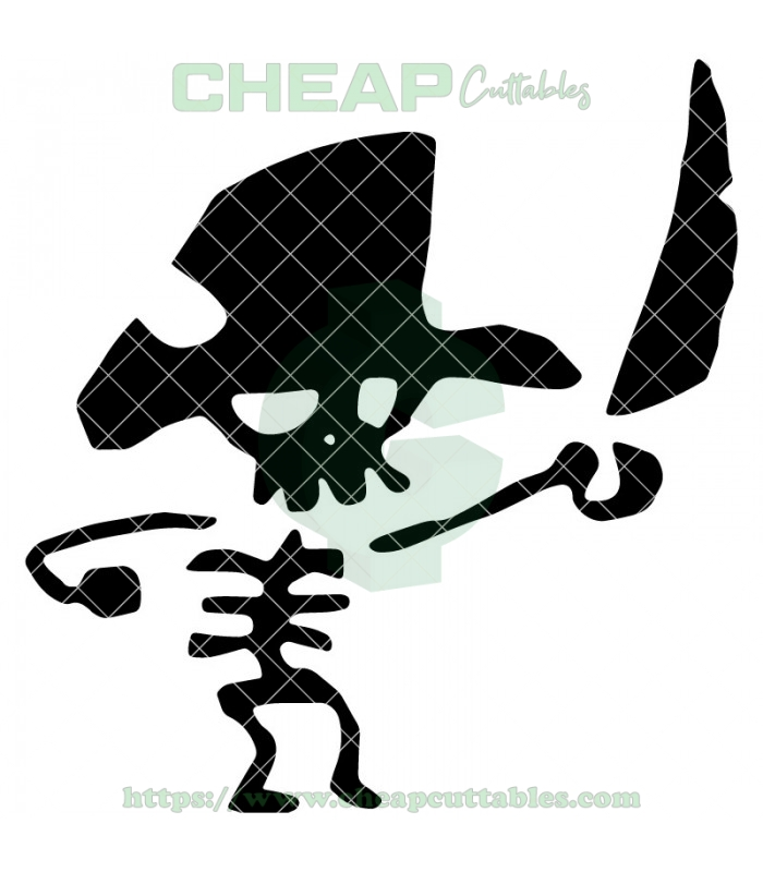 Pirate Skeleton Vector Design File.