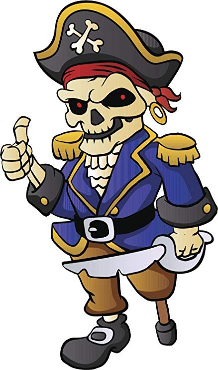 Amazon.com: Cool Vintage Retro Cartoon Pirate.