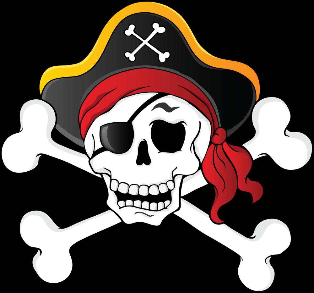 Skull & Bones Piracy Skull and crossbones Clip art.