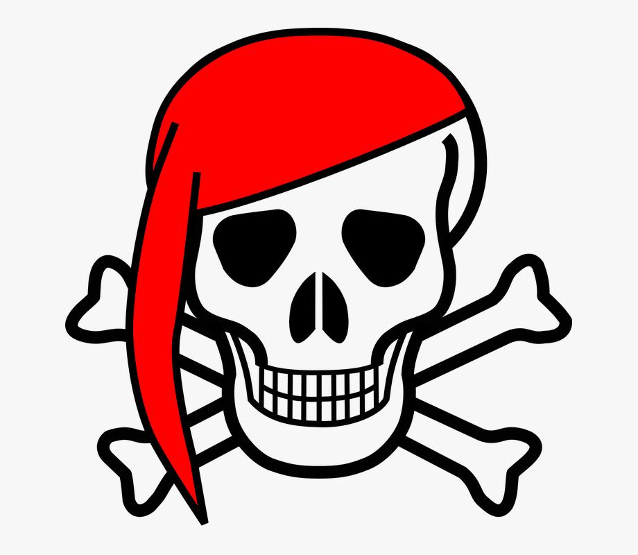 Skull Crossbones Bones Scarf.