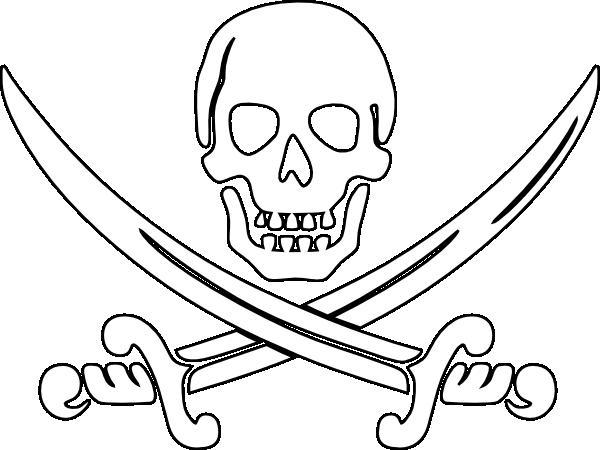 Pirate Swords Outline Clip Art at Clker.com.