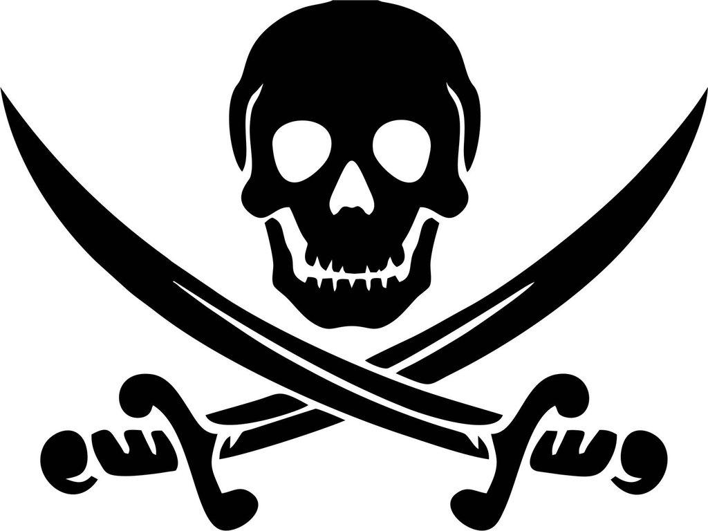 Pirate Swords Vinyl Decal.
