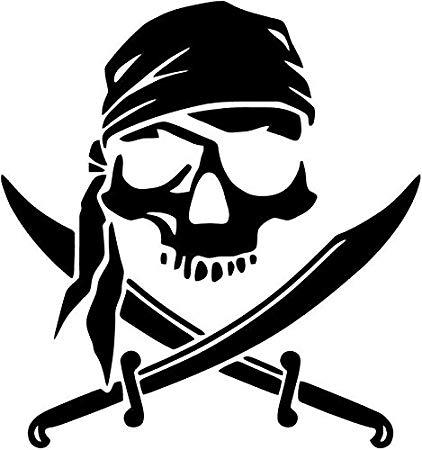 Amazon.com: Pirate Swords Bandana Skull Vinyl Decal Sticker.