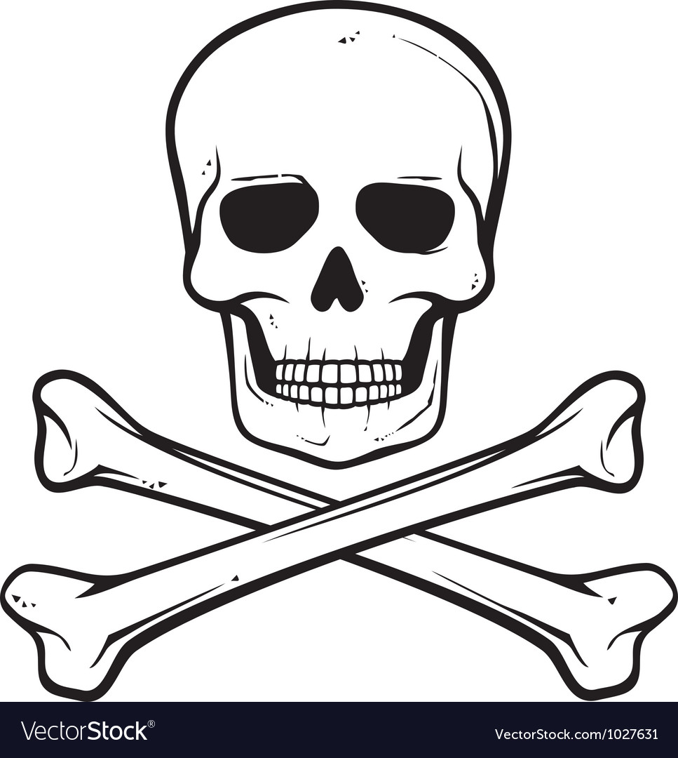 Skull with crossed bones.