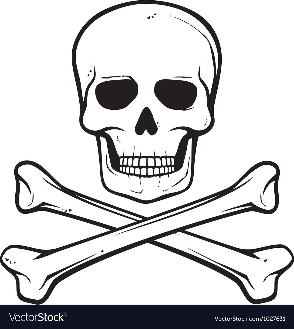 Skull with crossed bones.