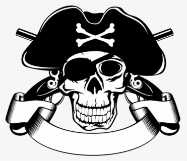 Free Pirate Skull Clip Art with No Background.