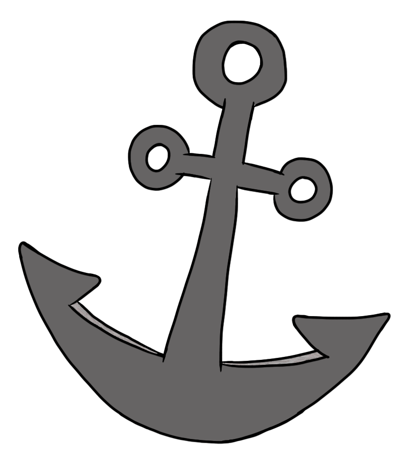 Simple Anchor Pirate Clipart.