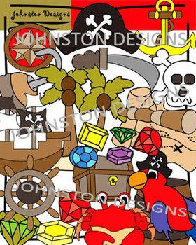 Pirate Theme Clipart.