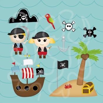 Pirate Themed Clip Art.