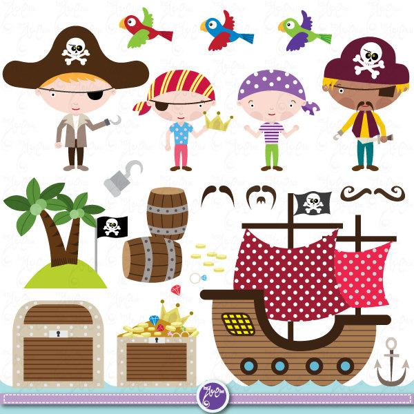 Cute pirate ship clipart   ciij.