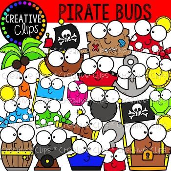 Pirate Buds {Pirate Clipart}.