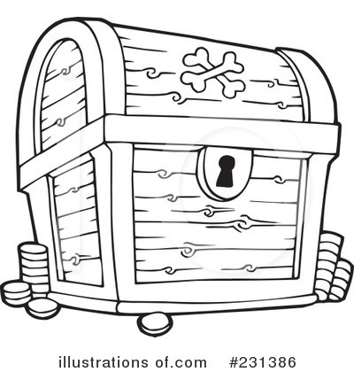 royalty free rf treasure chest clipart illustration by.