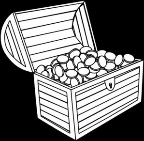 Treasure chest treasure black and white clipart clipart kid.
