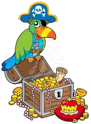 Pirate Treasure Clipart.