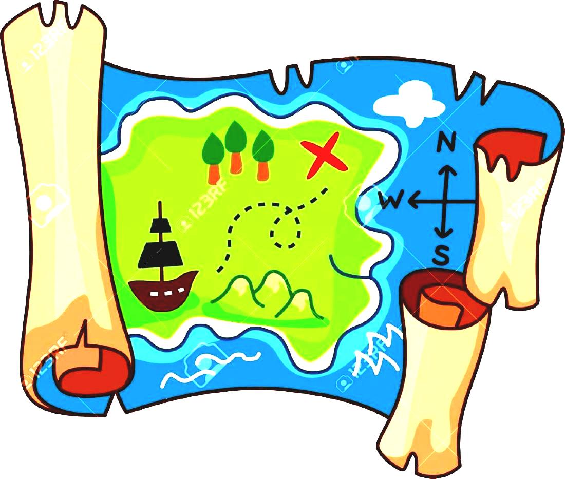 Pirate Map Clipart.
