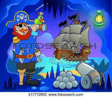 Clipart of Pirate cove theme image 5 k17712653.