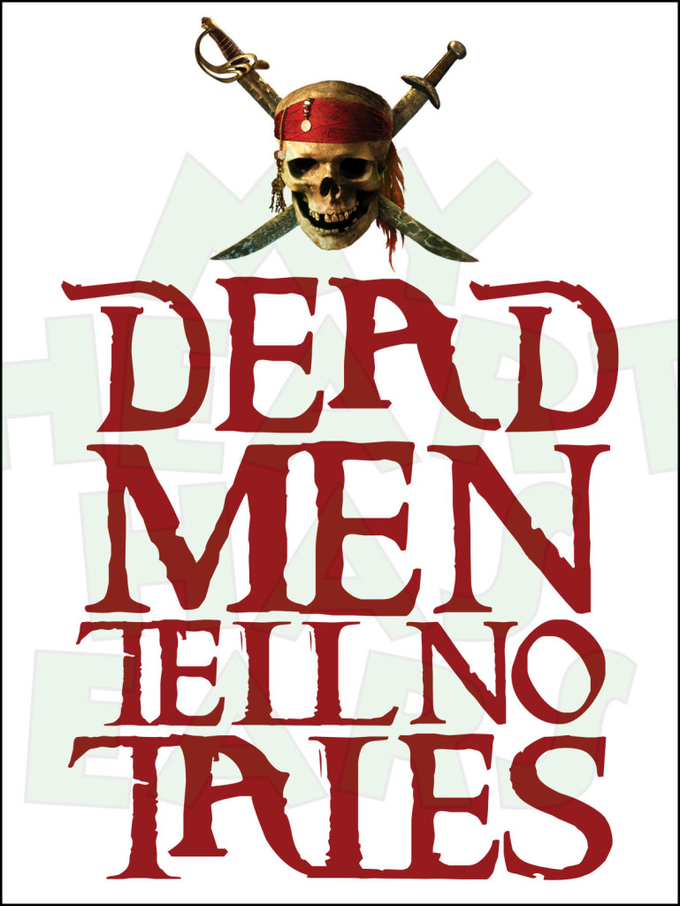 Dead men tell no tales Pirates of the Caribbean INSTANT DOWNLOAD.