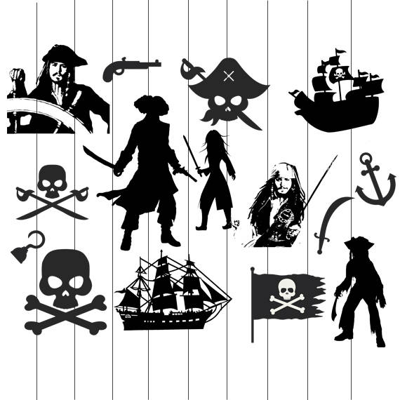 Pirates of the Caribbean Clipart svg, Digital download, Jack.