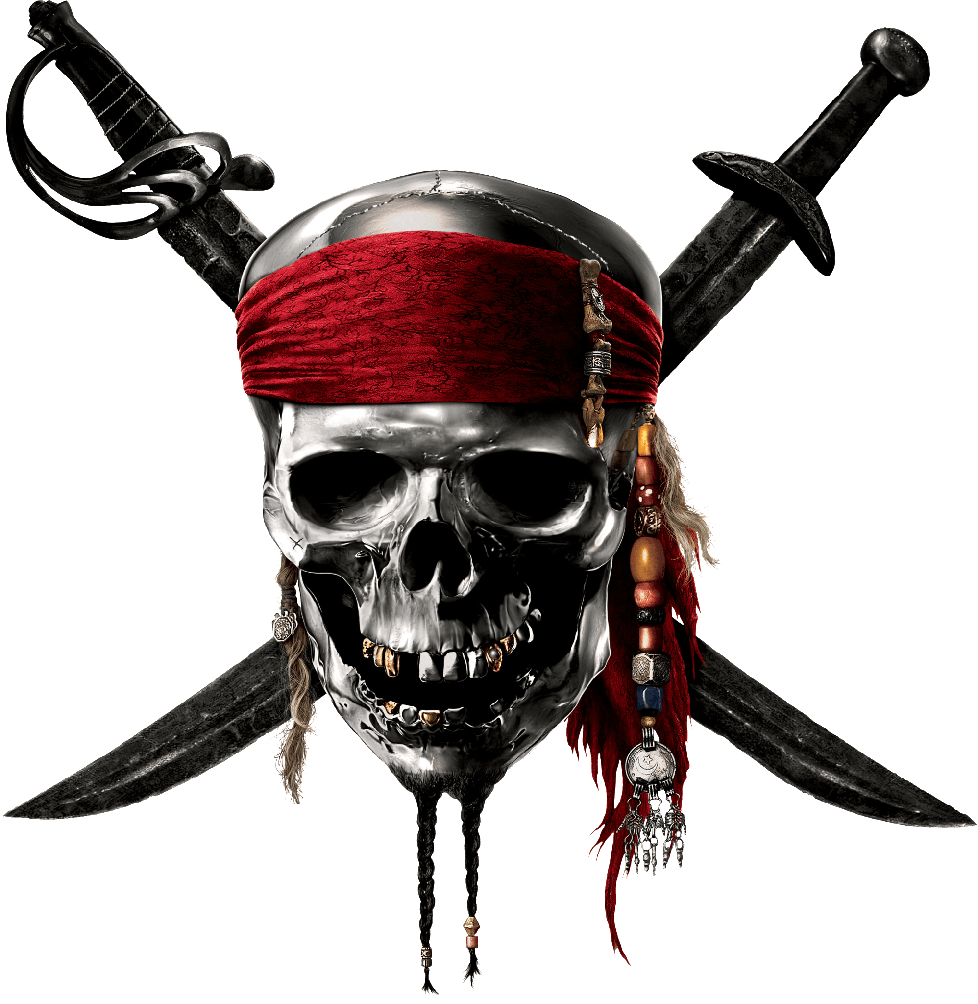 Pirates Of the Caribbean Skull Sign transparent PNG.