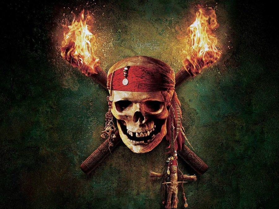 Pirates Of The Caribbean Skull Logo Flames Desktop.