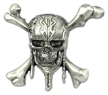 Disney Pirates of The Caribbean Skull Logo Pin Novelty.