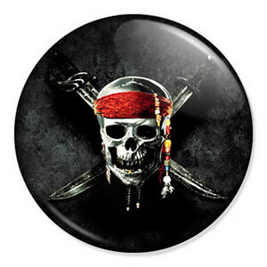 Details about Pirates of the Caribbean Skull Logo 25mm 1\