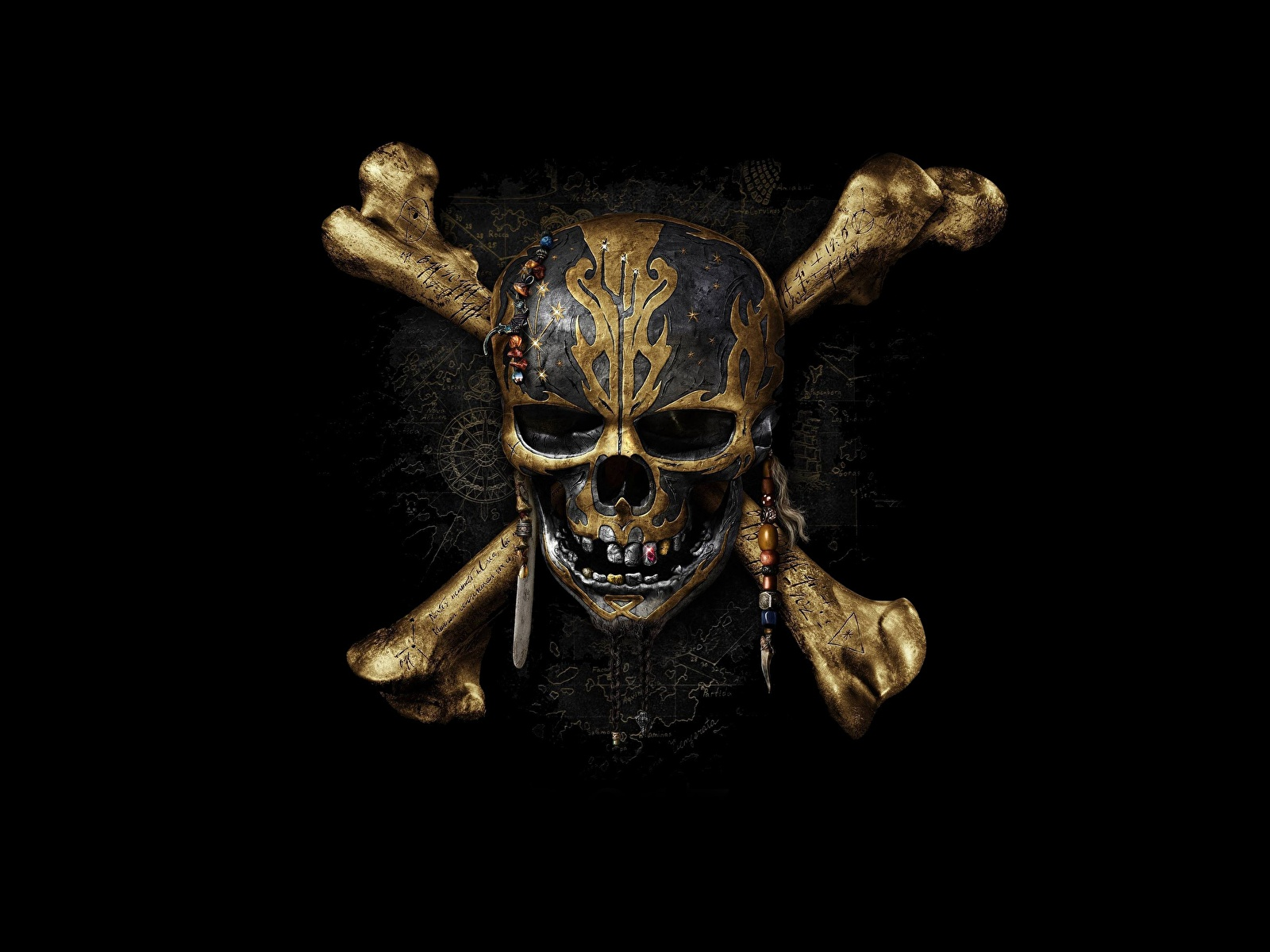 Photos Pirates of the Caribbean Skulls Logo Emblem Dead.