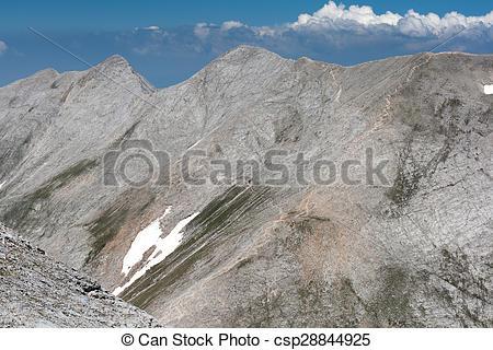 Stock Photo of Kutelo Peak and Koncheto, Pirin.