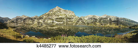 Picture of Popovo Lake and Jangal mountain in Pirin National Park.