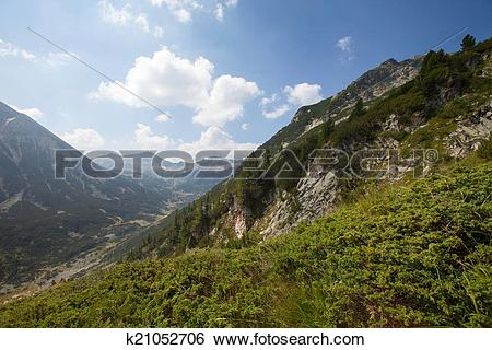 Stock Images of Peak Vihren, Pirin mountain, Bansko k21052706.