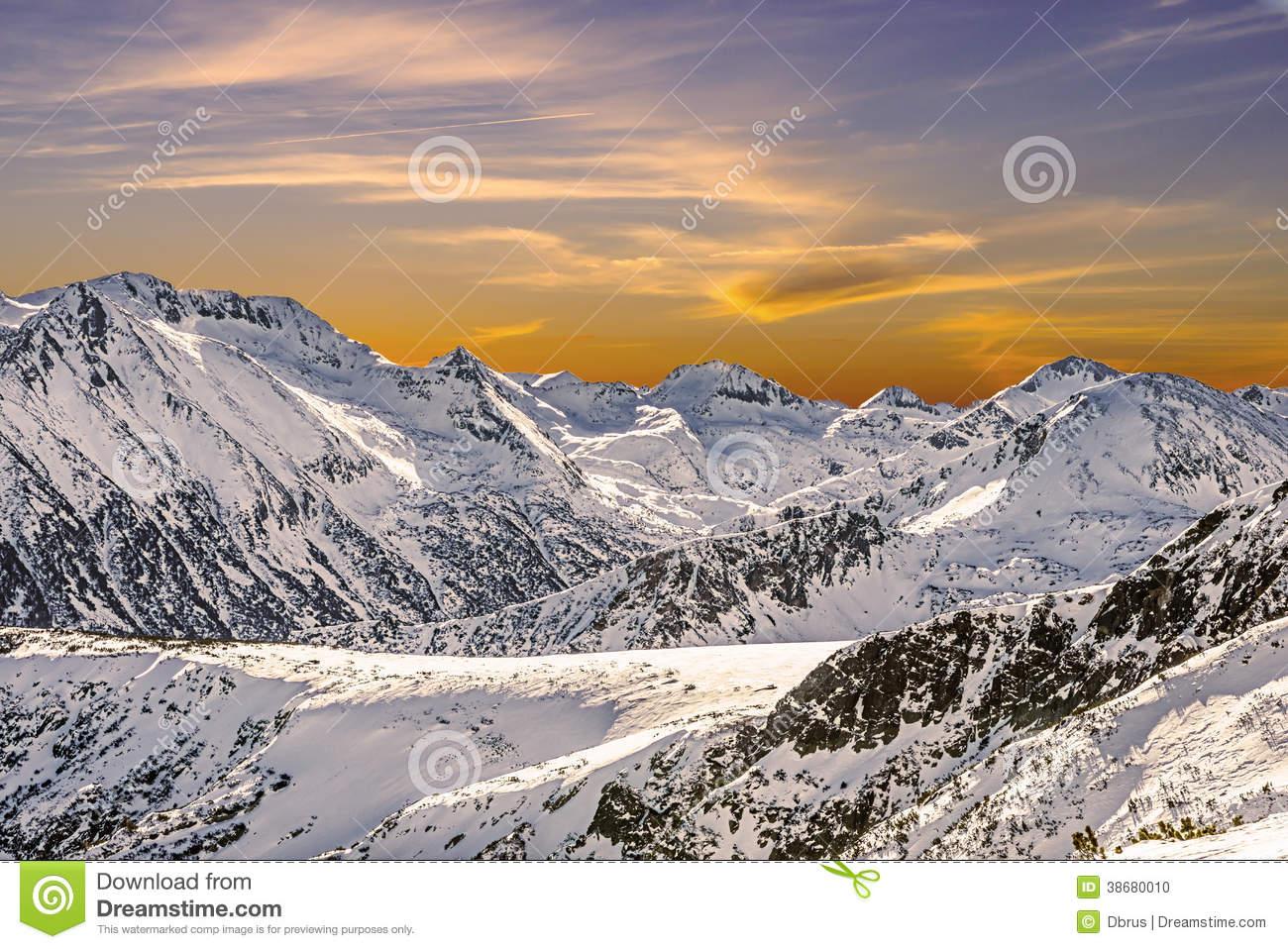 Winter Landscape Of Snow.