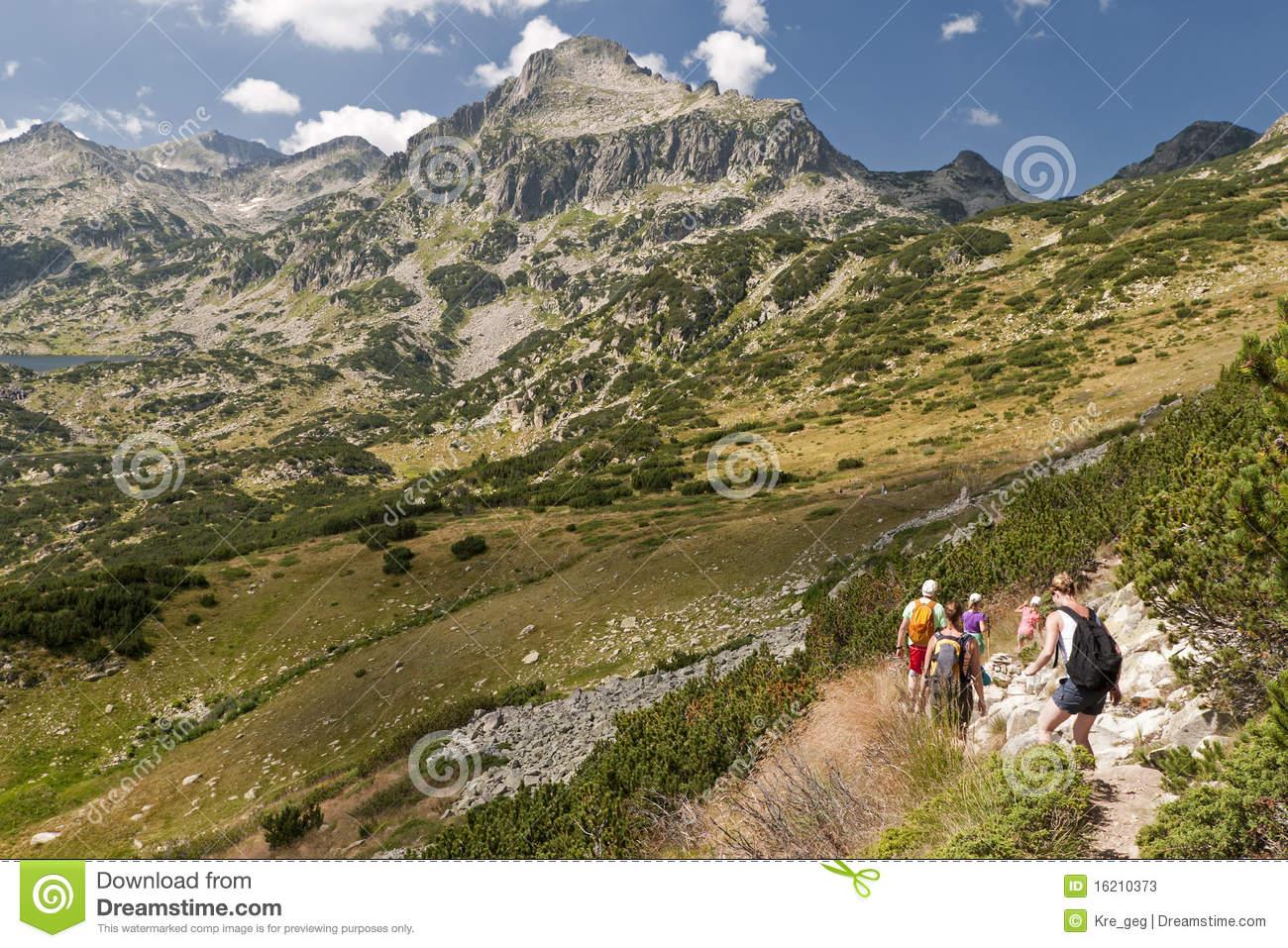 The Pirin Mountains Stock Photo.