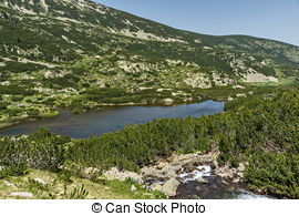 Stock Photographs of Fish lakes and Sivrya peak, Pirin Mountain.