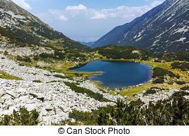 Stock Photo of Panorama of Pirin mountain.