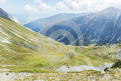 Hiking Pirin Mountains Stock Photos.