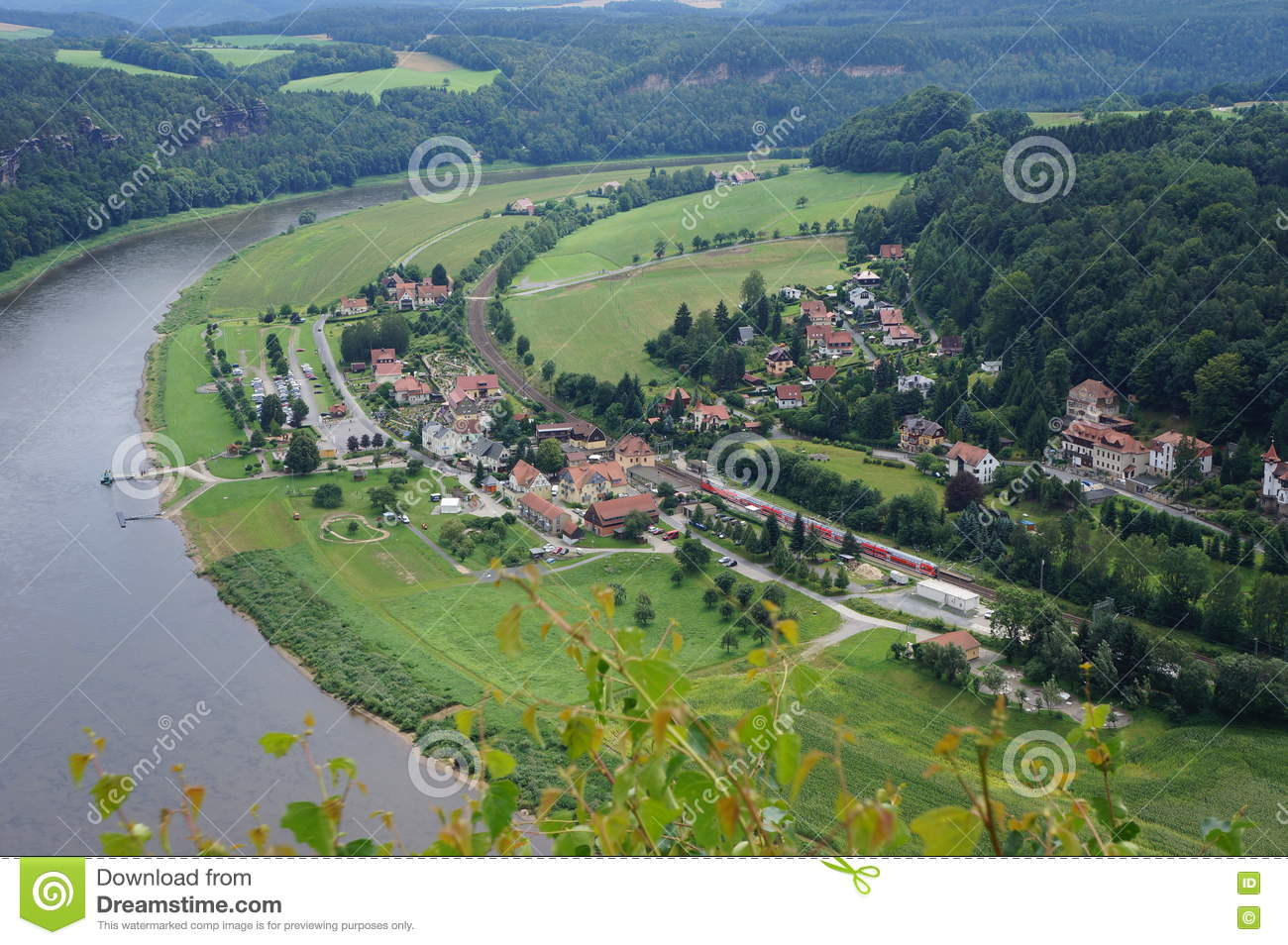 Rathen, Germany Stock Photo.