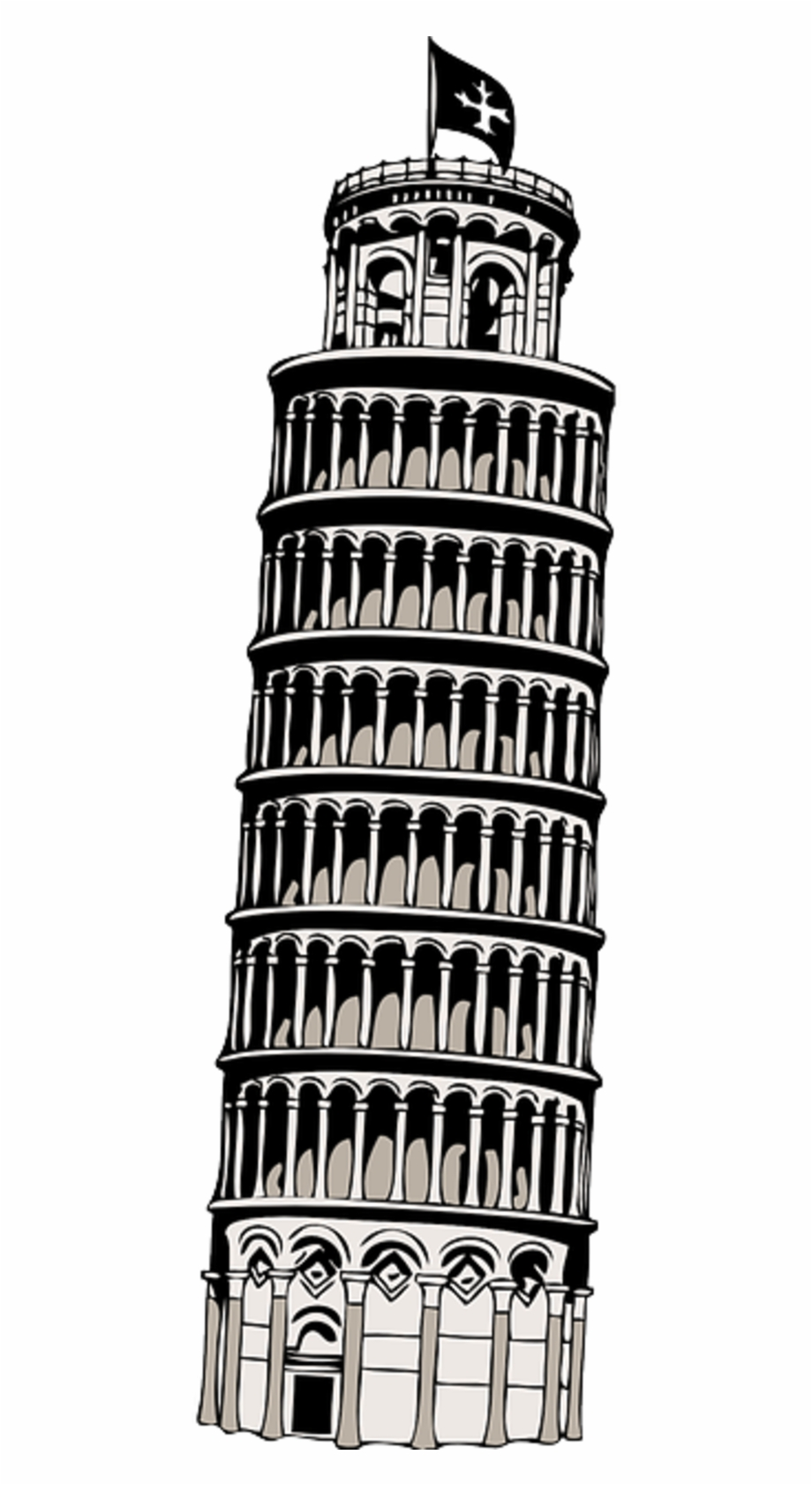 Leaning Tower Of Pisa Transparent Free PNG Images & Clipart.