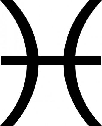 Zodiac Pisces clip art.