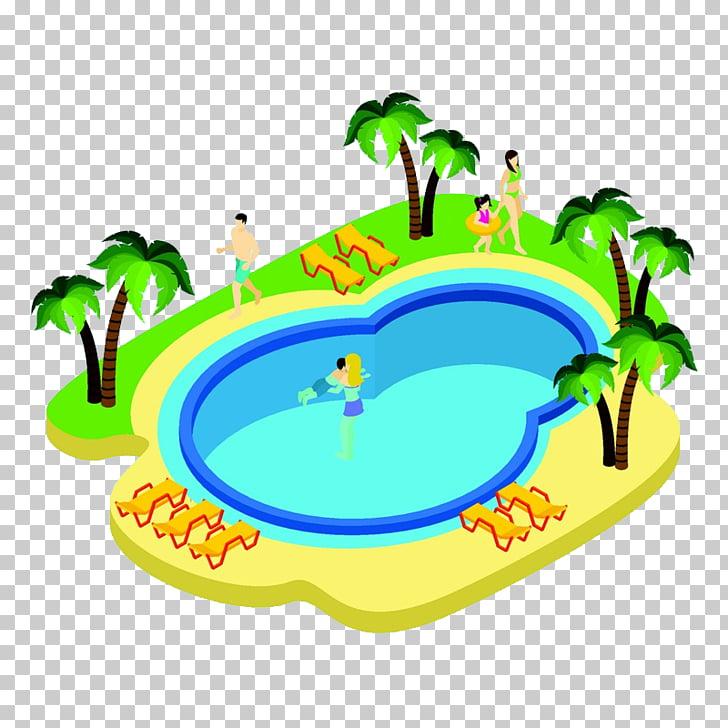 Dibujos animados de la piscina, bonita piscina PNG Clipart.