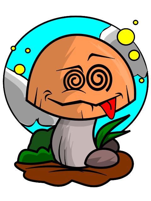 Free Poisoned Mushroom Clip Art.