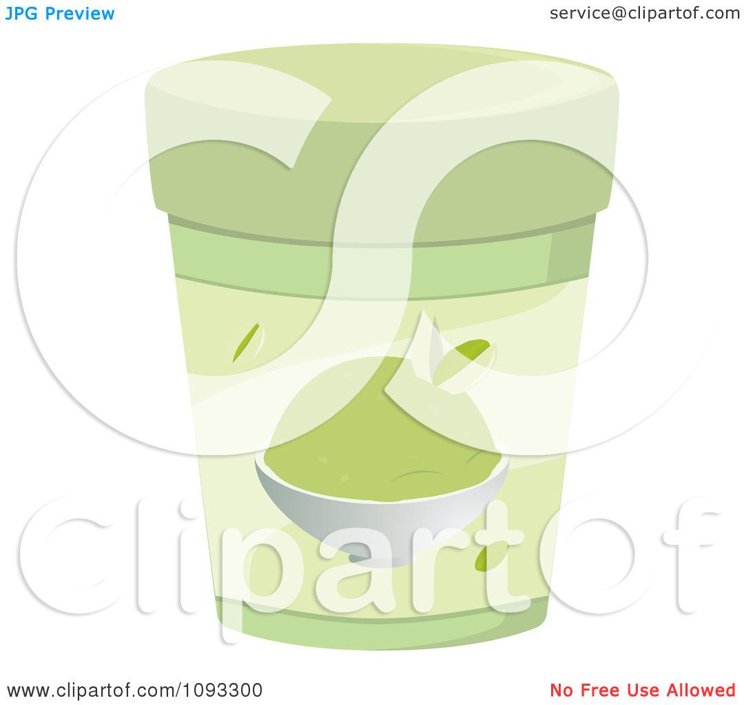 Clipart Container Of Pistachio Ice Cream.
