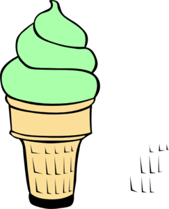 Pistachio Ice Cream Cone Clip Art at Clker.com.