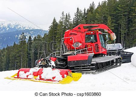 Stock Photography of Pisten Bully mountain.