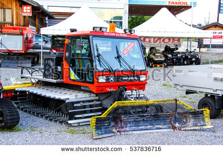 Snow Groomer Vehicle Stock Images, Royalty.