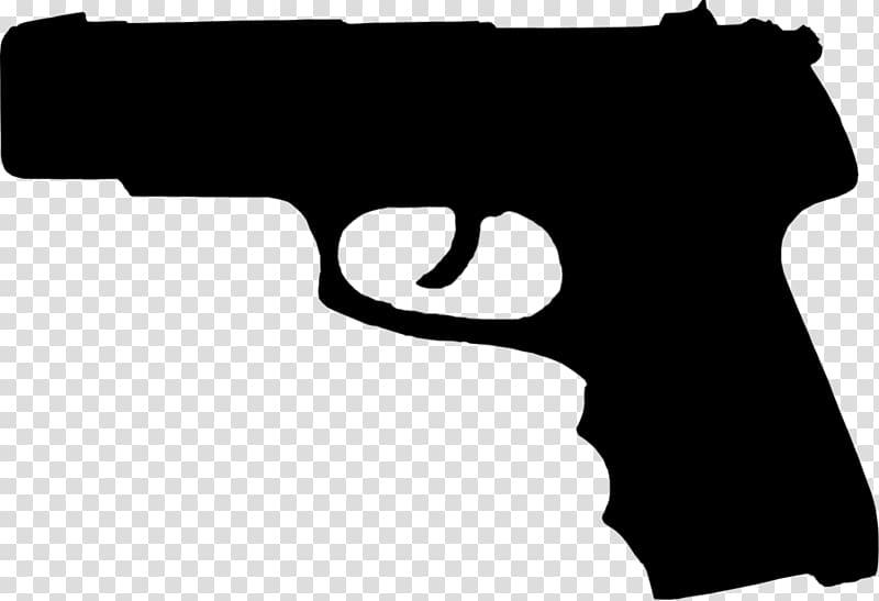 Firearm Pistol Handgun Silhouette, Handgun transparent.