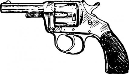 Gun pistol clip art vector pistol graphics image.