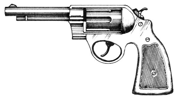 Revolver Pistol Clipart.