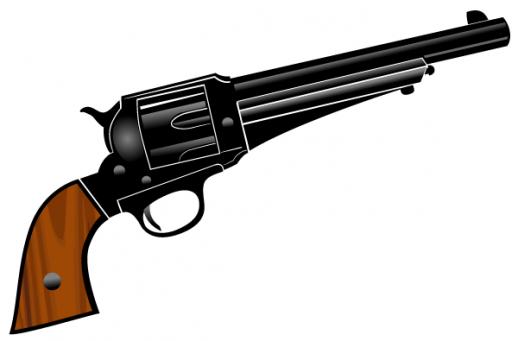 Cowboy Pistol Clipart.